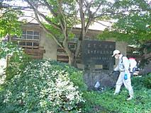 農業大学校富士里付属農場記念碑の整備を行いました
