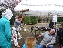 農大祭にて餅つき開催