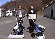 株式会社アグロ信州様から耕運機を寄贈いただきました