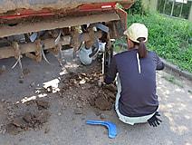 農業機械の整備実習がありました。