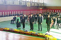 平成30年度農業大学校総合農学科の卒業式が厳かに行われました