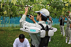 果樹の作業を補助してくれる機器の体験講座を行いました